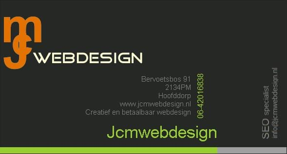 Jcmwebdesign webdesigner Hoofddorp