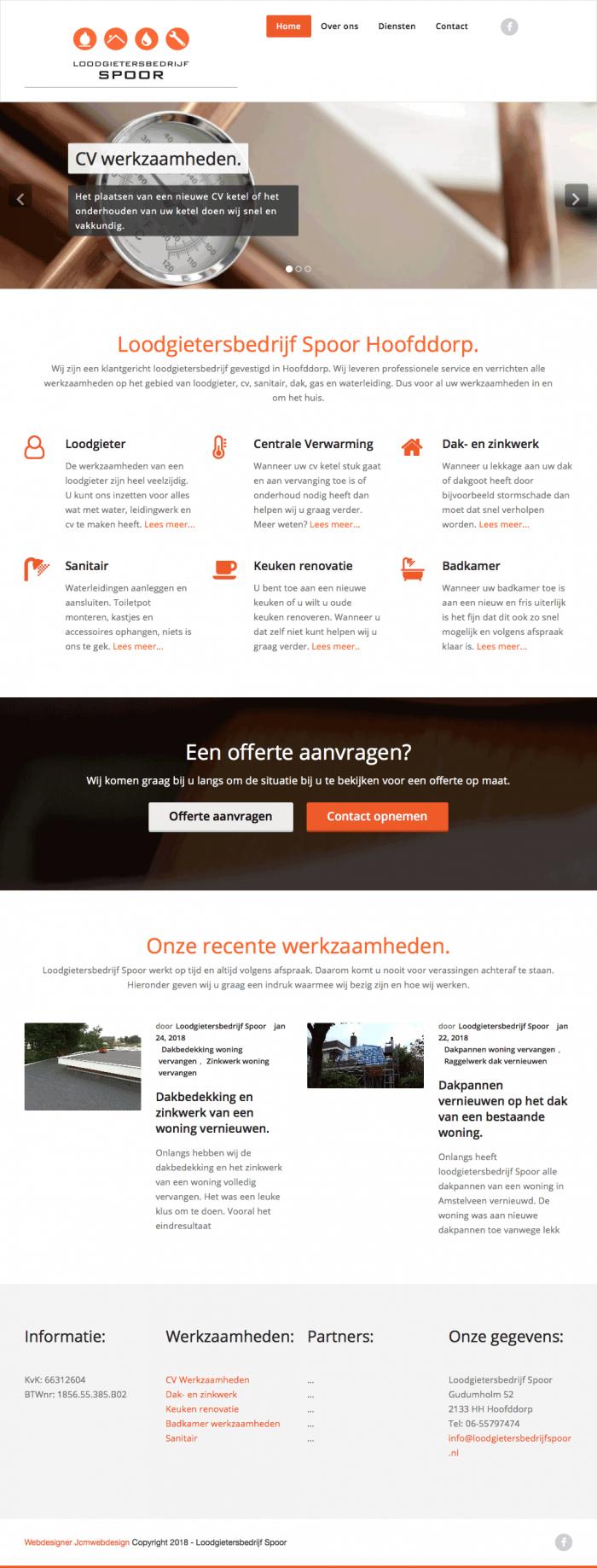 Portfolio-Wordpress-Webdesginer-Jcmwebdesign-Loodgietersbedrijf-Spoor