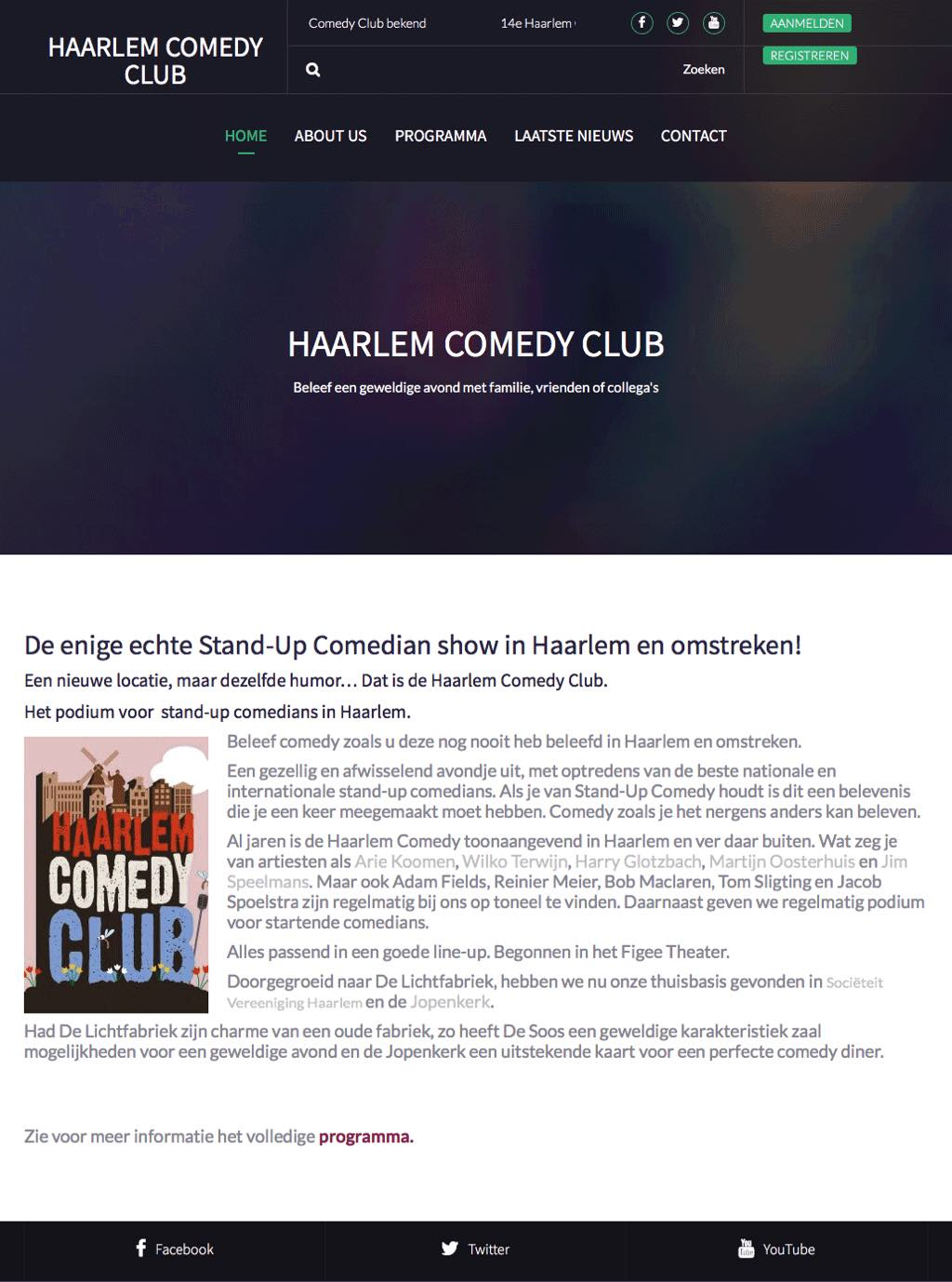 Portfolio-Wordpress-website-maken- Webdesginer-Jcmwebdesign-Stand-Up-Comedian-show