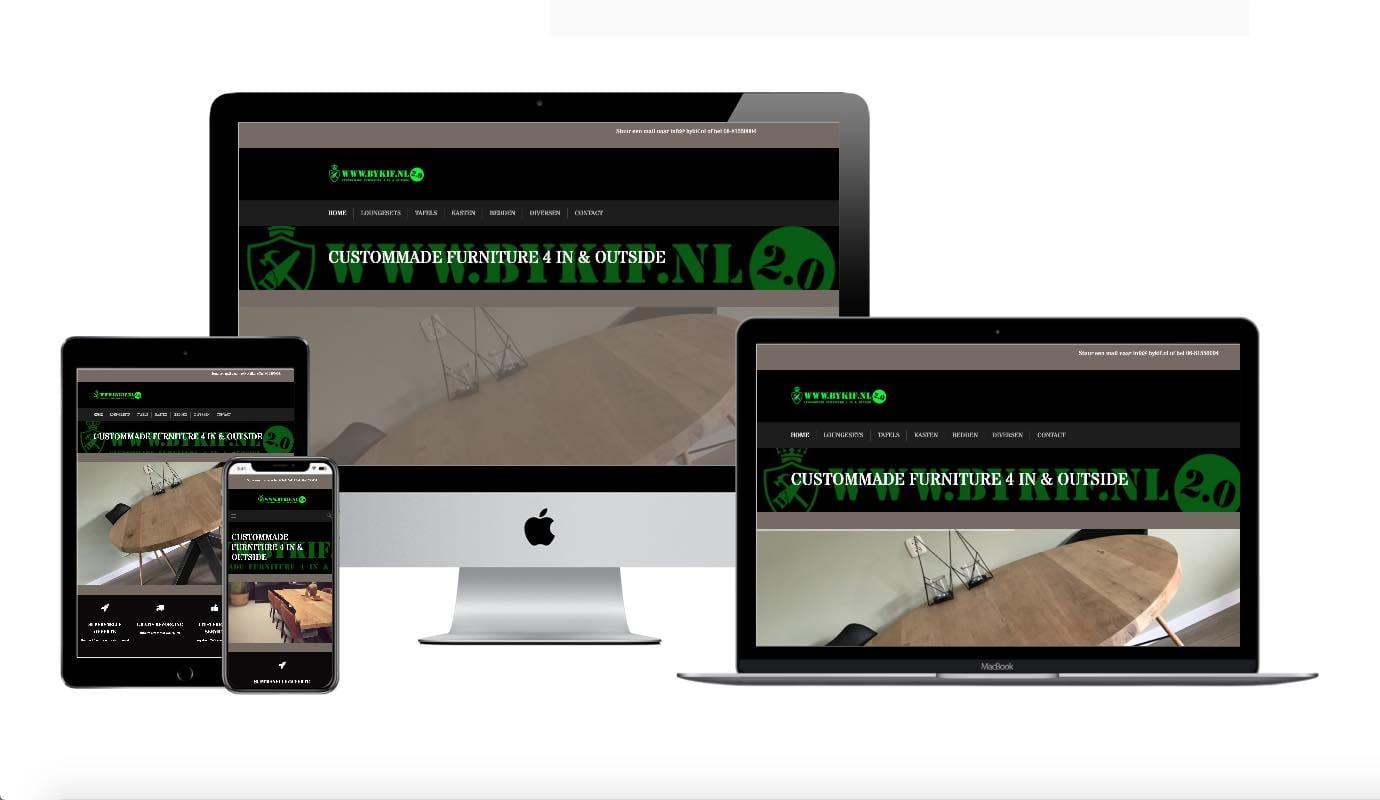 Wordpress webdesigner portfolio Bykif