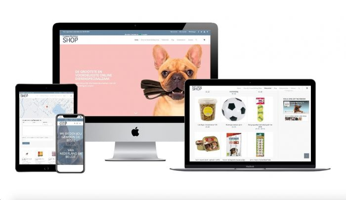 Wordpress webdesigner portfolio franse bulldog shop