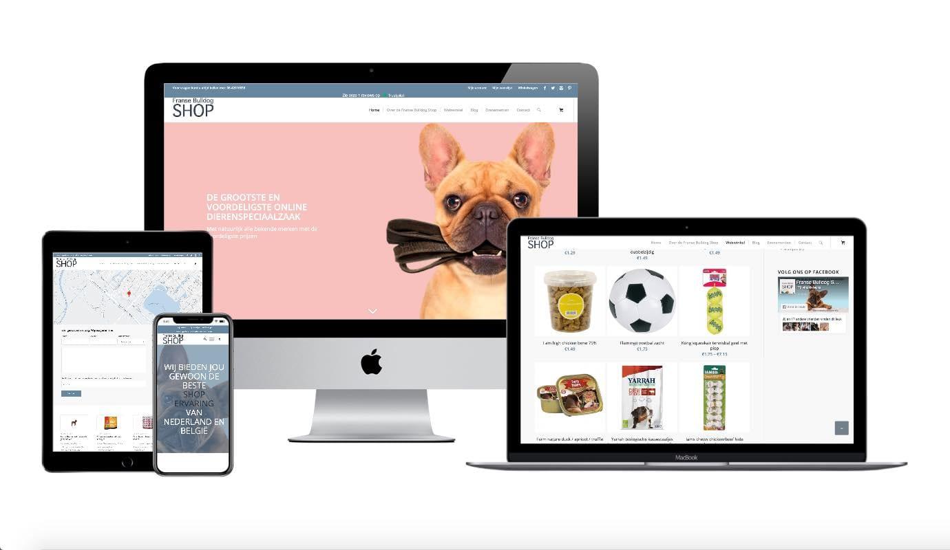 Wordpress webshop laten maken. Portfolio franse bulldog shop