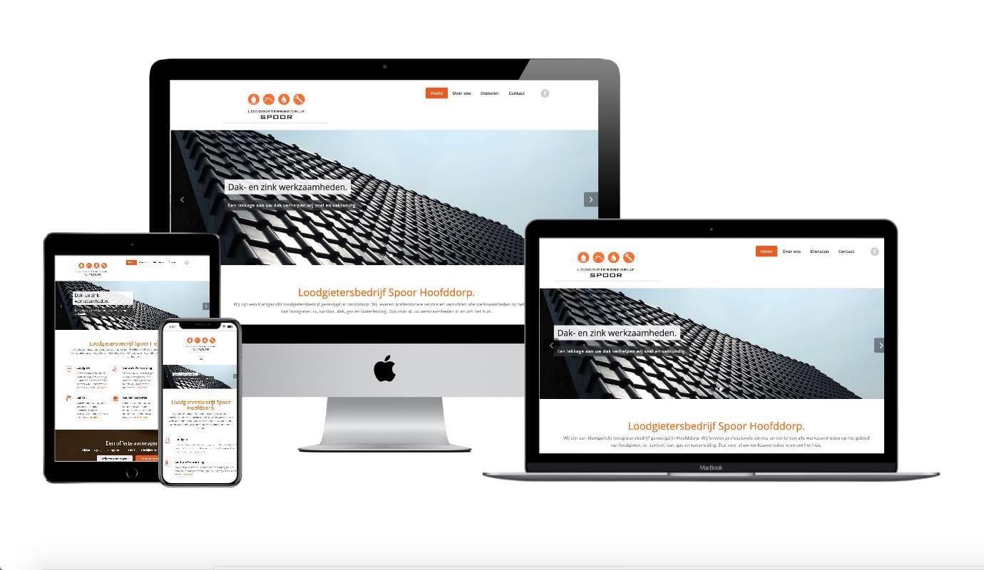 Wordpress webdesigner portfolio loodgietersbedrijf spoor
