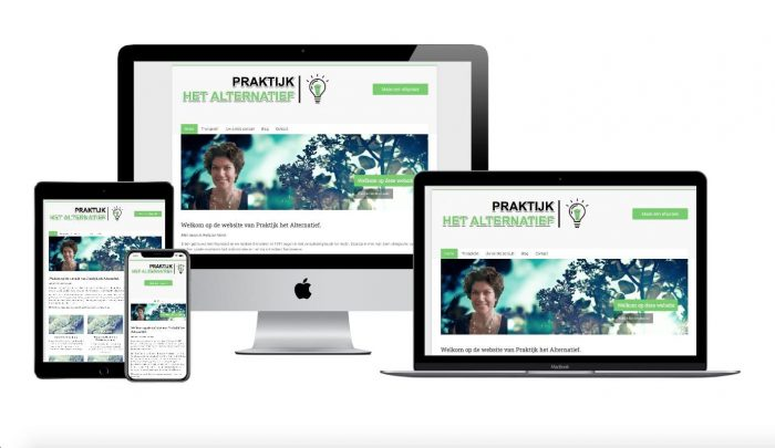 Wordpress webdesigner portfolio praktijk het alternatief