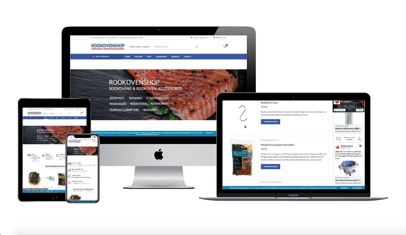 Wordpress webdesigner portfolio rookoven shop