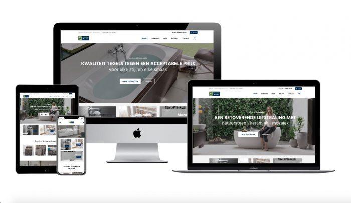 Wordpress webdesigner portfolio tegelhandel medemblik