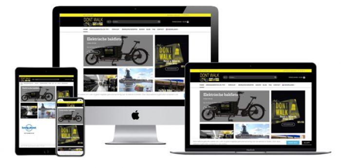 WordPress webdesigner Jcmwebdesign portfolio rent a bike haarlem