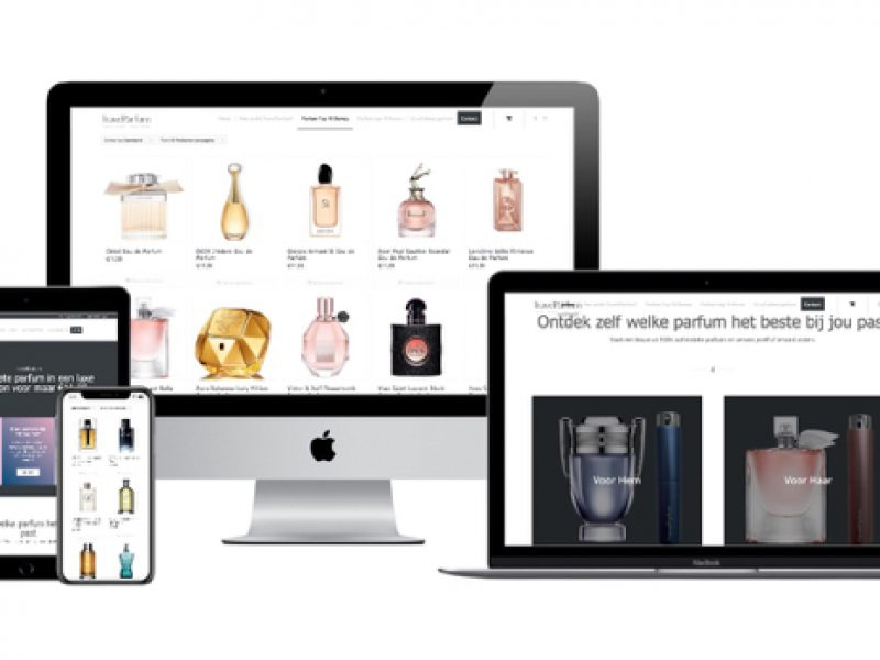 Wordpress Woocommerce webshop webdesigner portfolio TravelParfum